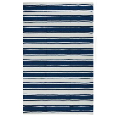Zen Blue/White Indoor/Outdoor Area Rug Rug Size: 2 x 3