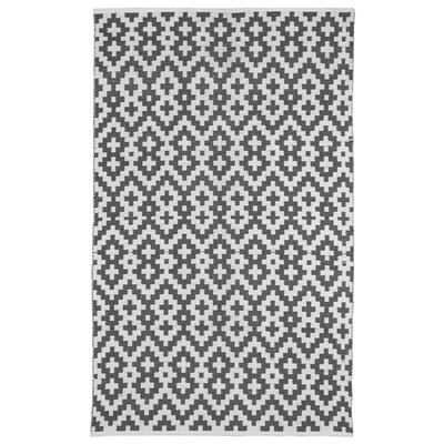 Zen Samsara Cotton Charcoal Gray/White Area Rug Rug Size: 5 x 8
