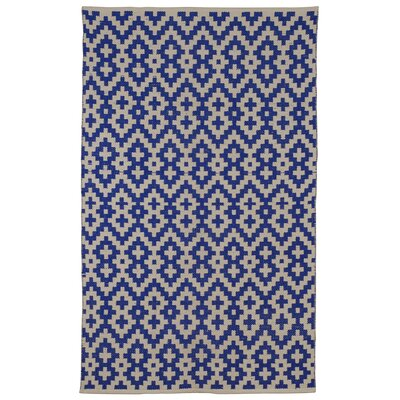 Zen Samsara Cotton Indigo/Natural Area Rug Rug Size: 4 x 6