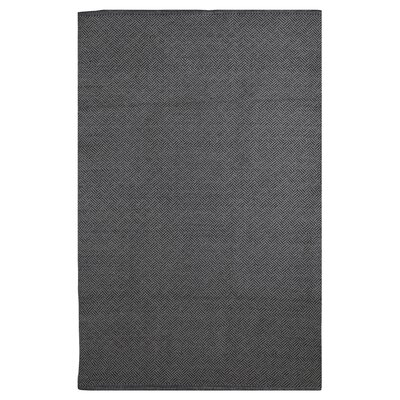 Zen Karma Hand Woven Cotton Black Area Rug Rug Size: 4 x 6