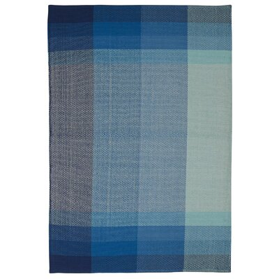 Zen Bliss Hand Woven Cotton Blue Area Rug Rug Size: 5 x 8