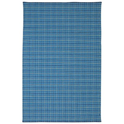 Zen Theory Cotton Blue Area Rug Rug Size: 6' x 9'