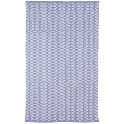 Zen Marga Cotton Blue Area Rug Rug Size: 5 x 8