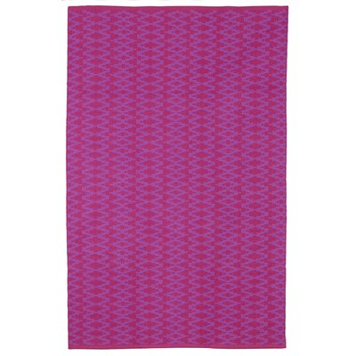 Zen Marga Cotton Very Berry/Violet Area Rug Rug Size: 8 x 10