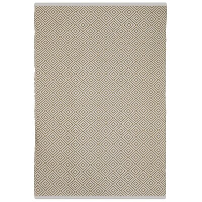 Estate Veria Hand-Woven Almond Indoor/Outdoor Area Rug Rug Size: Rectangle 5 x 8