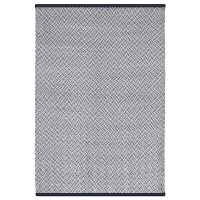 Estate Karma Hand-Woven Indigo/White Indoor/Outdoor Area Rug Rug Size: 6 x 9