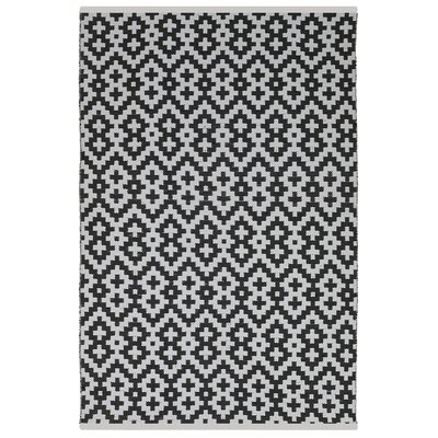 Estate Samsara Hand-Woven Black/White Indoor/Outdoor Area Rug Rug Size: Rectangle 6 x 9