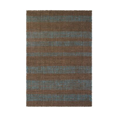 Delmer Hand-Woven Brown/Gray Indoor/Outdoor Area Rug Rug Size: Rectangle 3 x 5