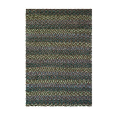 Gordonsville Hand-Woven Green/Brown Area Rug Rug Size: Rectangle 4 x 6