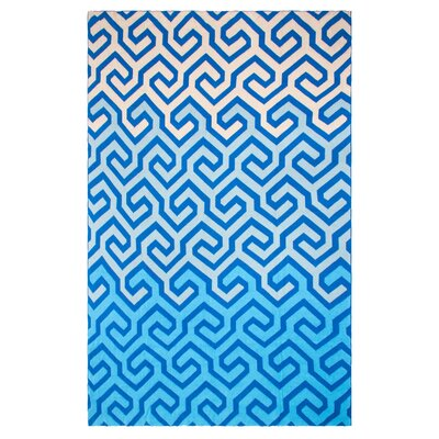 Metro Symphony Cotton Throw Color: Blue