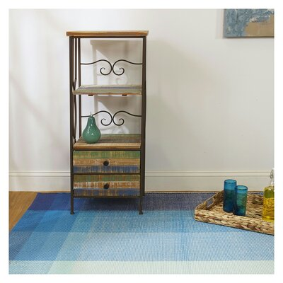 Estate Bliss Hand-Woven Blue Indoor/Outdoor Area Rug Rug Size: Rectangle 5 x 8