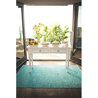 Zen Cancun Blue Sea Area Rug Rug Size: 2 x 3