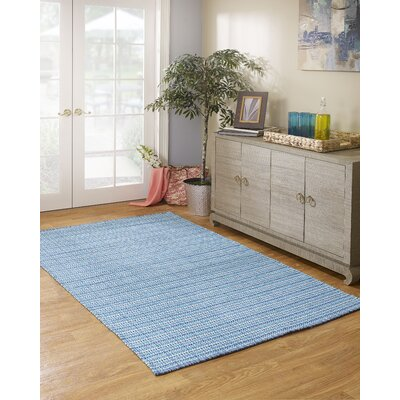 Estate Theory Hand-Woven Blue Indoor/Outdoor Area Rug Rug Size: Rectangle 5 x 8