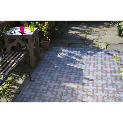 Rheinsberg Powder Blue World Indoor/Outdoor Area Rug Rug Size: 3' x 5'