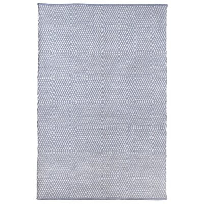 Criswell Hand-Woven Cotton Blue Area Rug Rug Size: Rectangle 4 x 6