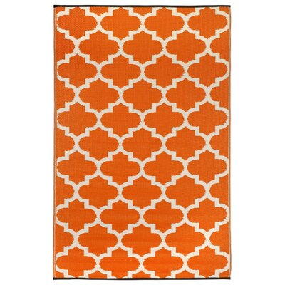 Bremond Block Carrot World Outdoor Plastic Area Rug Rug Size: 5 x 8