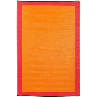 Skien World Orange Indoor/Outdoor Area Rug Rug Size: 4 x 6