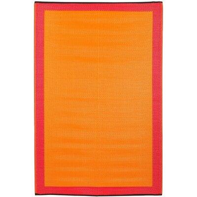 Skien World Orange Indoor/Outdoor Area Rug Rug Size: 3 x 5