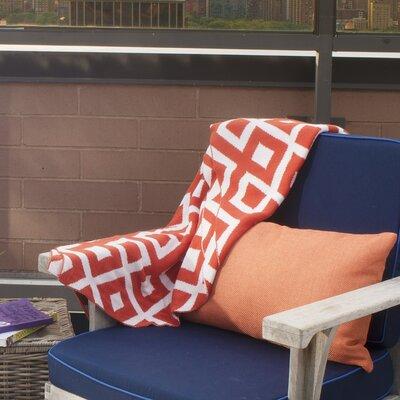 Metro Marina Cotton Throw Blanket Color: Carrot / Natural