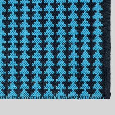Zen Hand-Woven Blue Area Rug Rug Size: 8 x 10