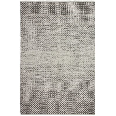 Avanley Hand-Woven Cotton Gray/White Area Rug Rug Size:  Rectangle 10 x 14
