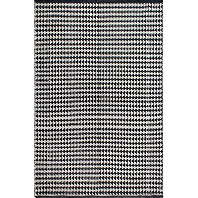 Zen Hand-Woven Black/White Area Rug Rug Size: 3 x 5