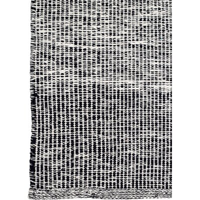 Zen Hand-Woven Black/Gray Area Rug Rug Size: 4 x 6