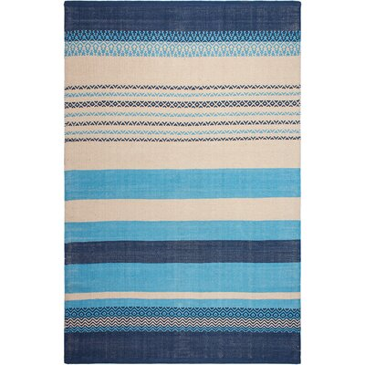 Zen Hand-Woven Blue Area Rug Rug Size: 3 x 5