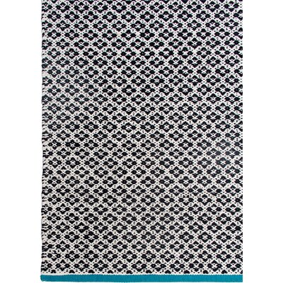 Zen Hand-Woven Black Area Rug Rug Size: 4 x 6