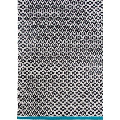 Zen Hand-Woven Black Area Rug Rug Size: 6 x 9