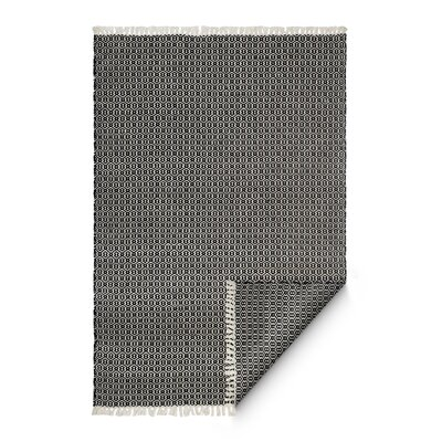 Hand-Woven Charcoal Indoor/Outdoor Area Rug Rug Size: 5 x 8
