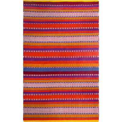 Zen Hand-Woven Red Area Rug Rug Size: 5 x 8
