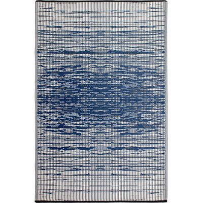 World Blue Indoor/Outdoor Area Rug Rug Size: 4 x 6