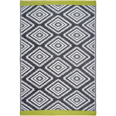 World Collection Gray/White Indoor/Outdoor Area Rug Rug Size: Rectangle 6 x 9