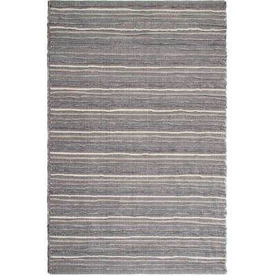 Estate Hand-Woven Gray Area Rug Rug Size: 3 x 5