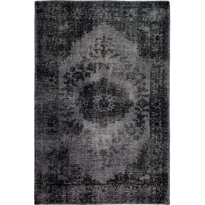 Estate Hand-Knotted Black Area Rug Rug Size: 5 x 8