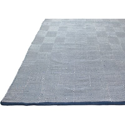 Zen Hand Woven Blue/White Indoor/Outdoor Area Rug Rug Size: Runner 26 x 8