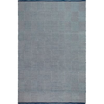 Zen Hand Woven Blue/White Indoor/Outdoor Area Rug Rug Size: 4 x 6