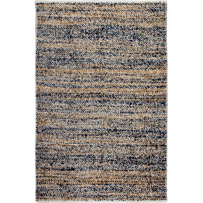 Estate Hand-Woven Blue/Brown Indoor/Outdoor Area Rug Rug Size: 5 x 8