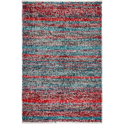 Estate Hand-Woven Multi-Colored Indoor/Outdoor Area Rug Rug Size: 4' x 6'