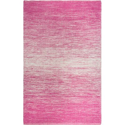 Estate Hand-Woven Pink Indoor/Outdoor Area Rug Rug Size: 5 x 8