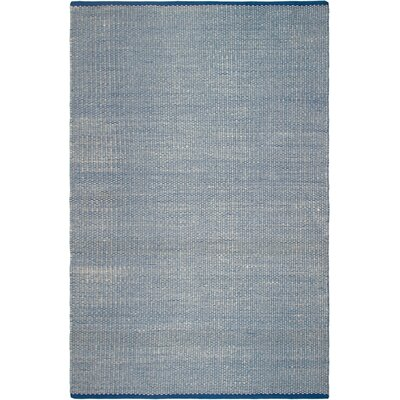 Estate Hand-Woven Blue Indoor/Outdoor Area Rug Rug Size: 4 x 6