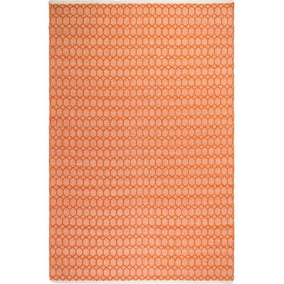 Estate Hand-Woven Orange Indoor/Outdoor Area Rug Rug Size: 5 x 8