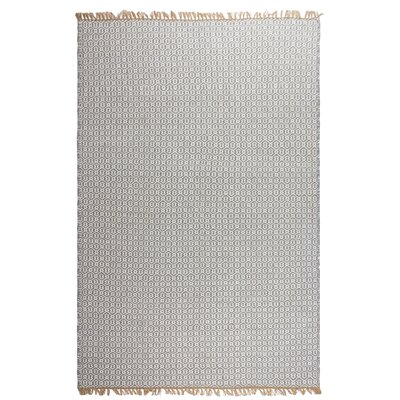 Estate Hand-Woven Gray Indoor/Outdoor Area Rug Rug Size: 6 x 9