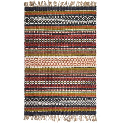 Heartland Yosemite Hand-Woven Blue/Red Area Rug