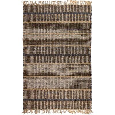 Heartland Hand-Woven Charcoal Area Rug Rug Size: 6 x 9