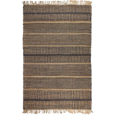 Ginger Hand-Woven Charcoal Area Rug Rug Size: Rectangle 4 x 6