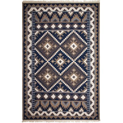 Heritage Hand-Knotted Brown/Blue Area Rug Rug Size: 5 x 8