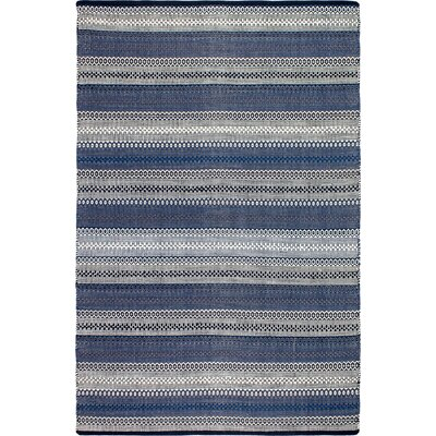 Estate Hand-Woven Blue Area Rug Rug Size: 6 x 9