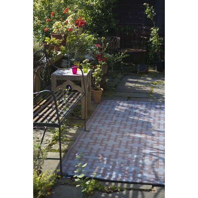 Rheinsberg Powder Blue World Indoor/Outdoor Area Rug Rug Size: 5 x 8